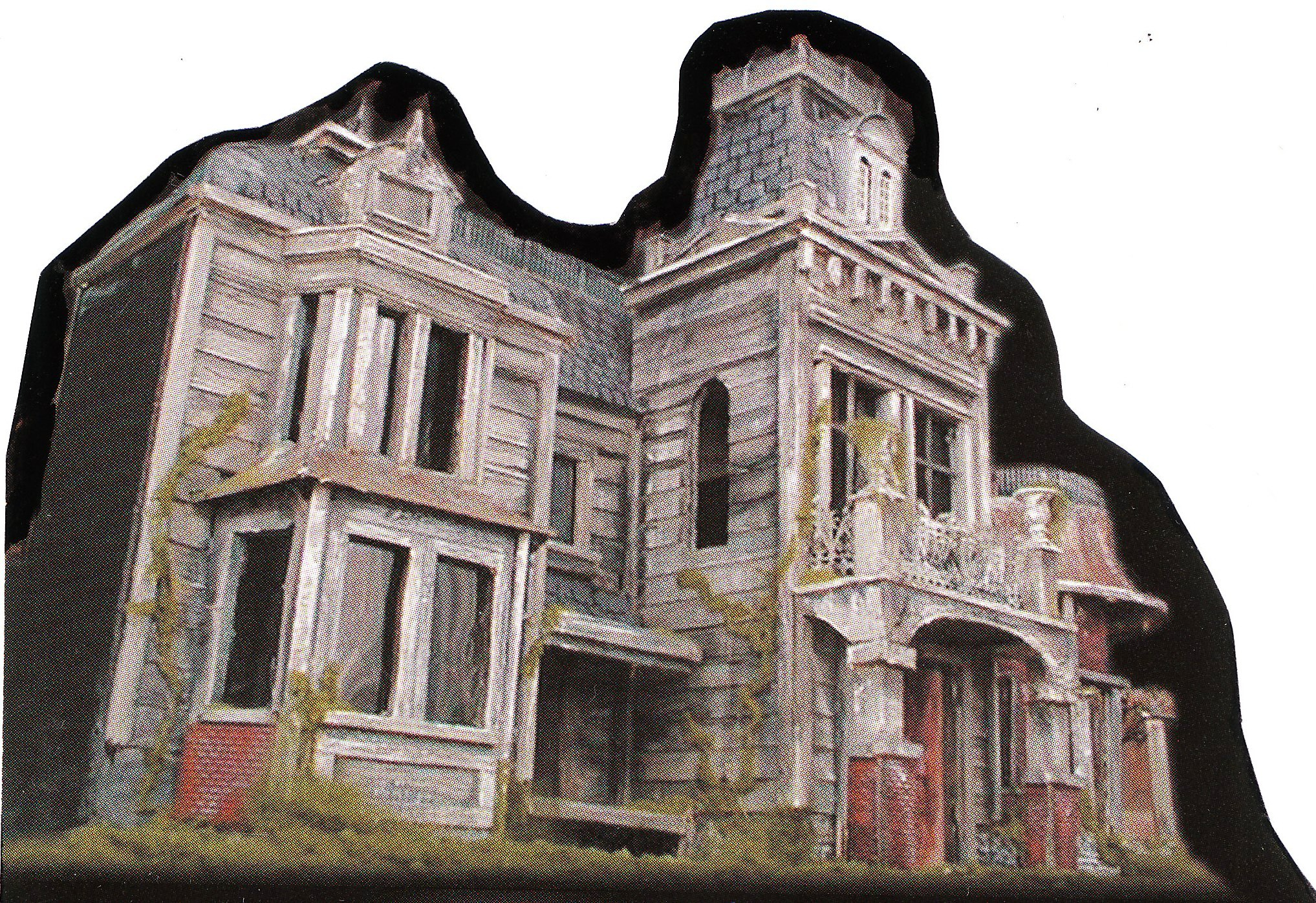 Diy haunted house facade